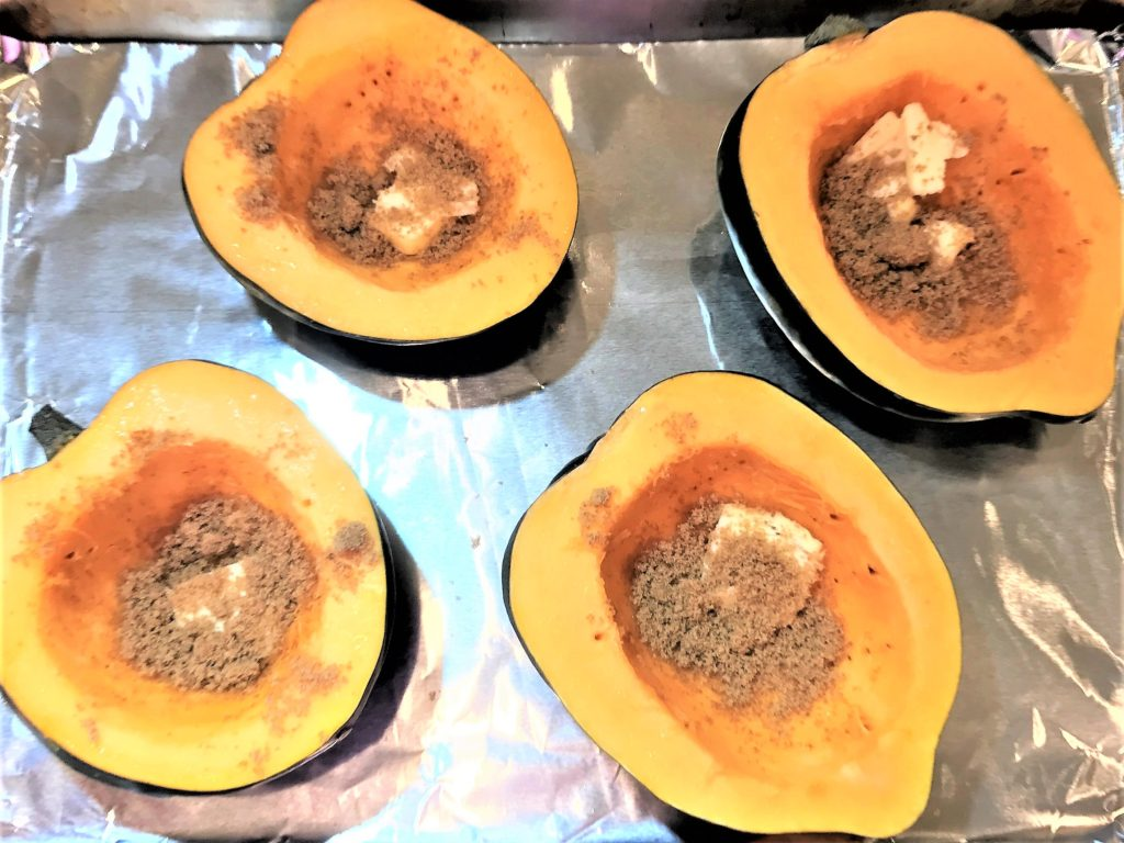 Acorn Squash, ready for the oven 2