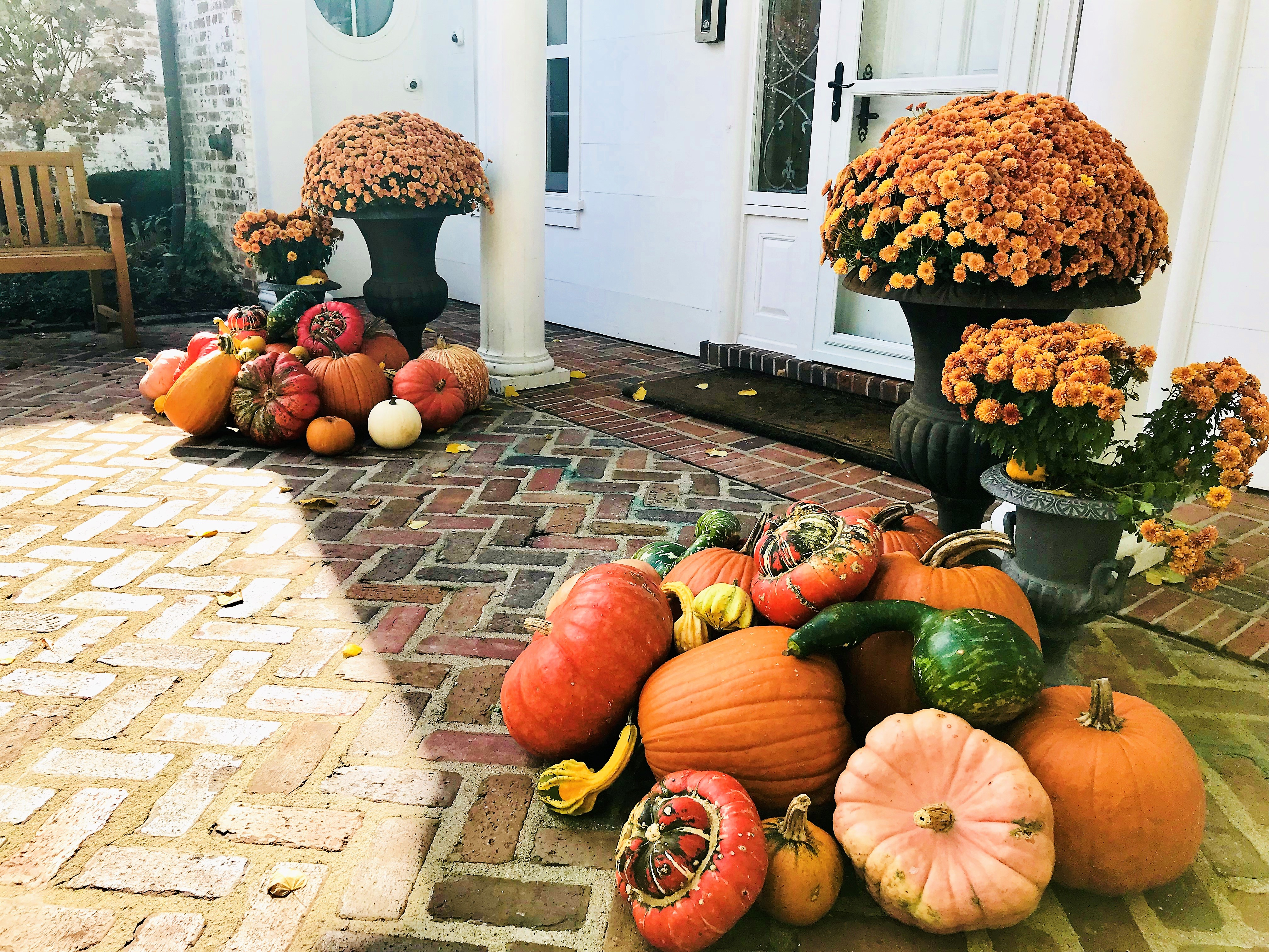 A Welcoming Fall Front Entrance