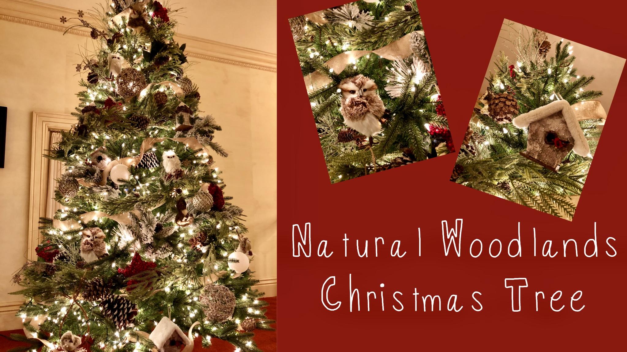 a natural woodland christmas tree