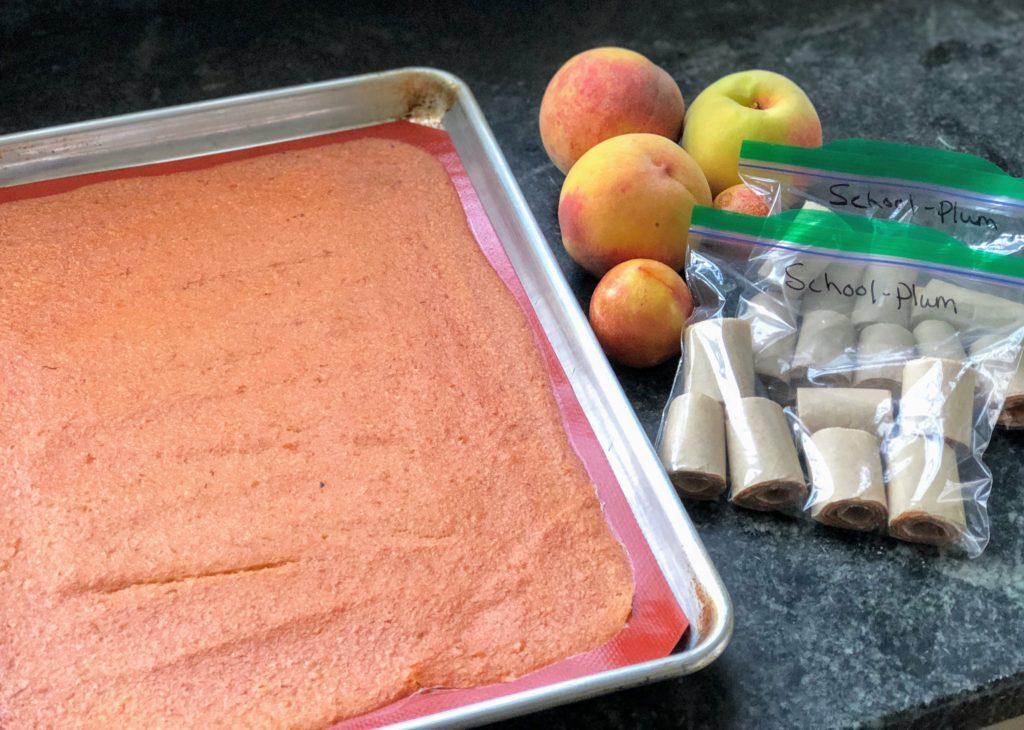 Homemade Plum & Peach Fruit Leathers