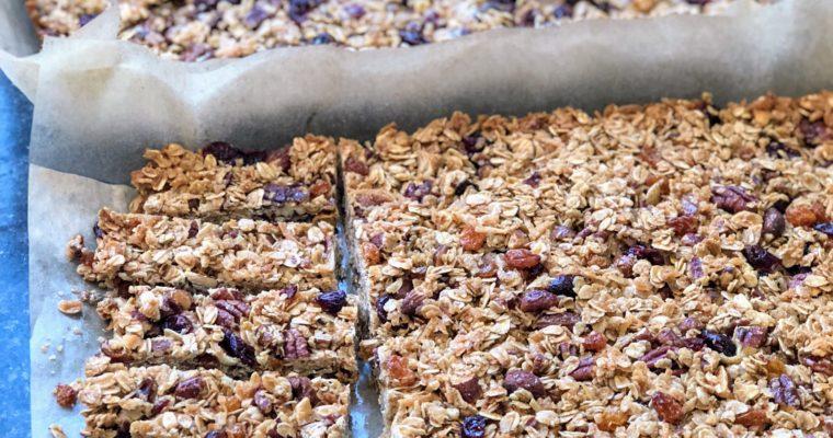 Homemade Chewy Granola Bars- Yum!